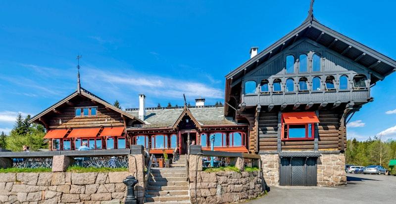 Frognerseteren Restaurant ved inngangen til Nordmarka