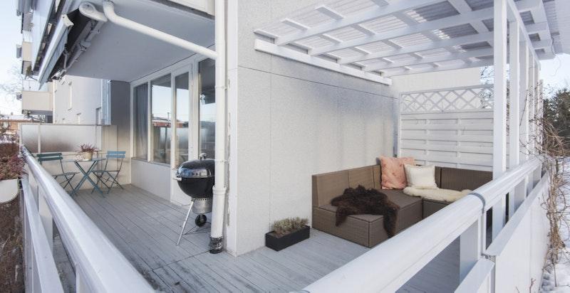 Verandaen er på ca. 18 m2
