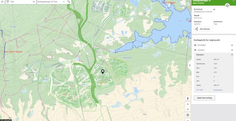 Hestegrøvegen 31 på kommunekart.com