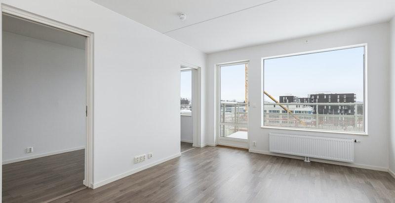 Stue, bildet er tatt fra en lik leilighet i en annen etasje