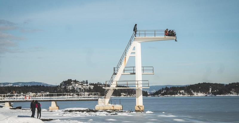 også vinterstid er en tur langs sjøen hyggelig