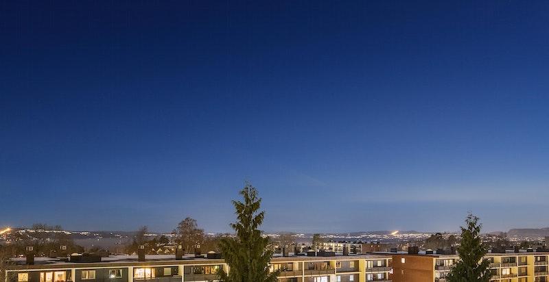 Flott panoramautsikt - både på dag- og kveldstid