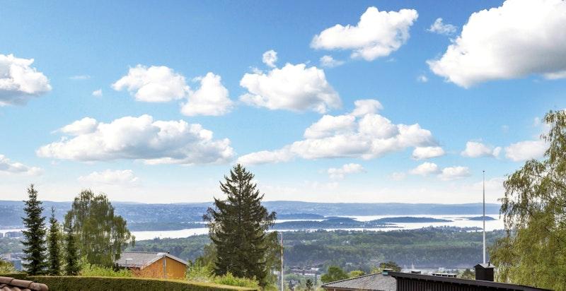 Utsikt over by og fjord