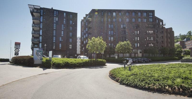 Sommerbilde fra Lysaker Brygge