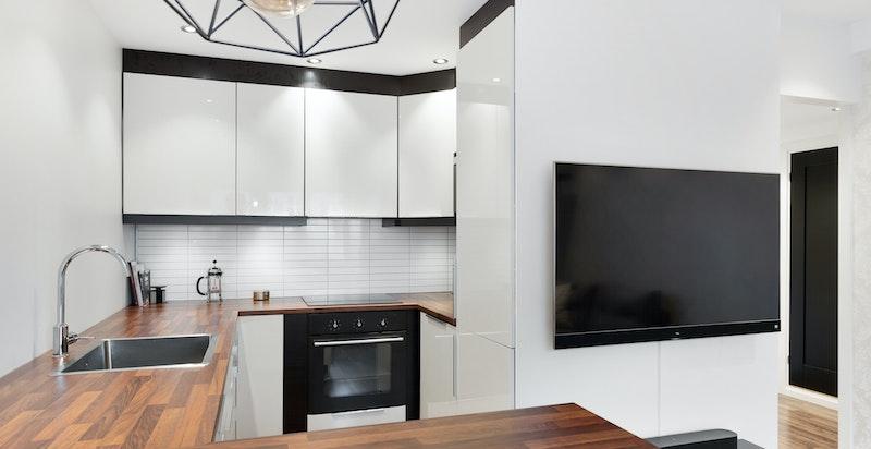Godt utnyttet kjøkken med moderne innredning fra 2014