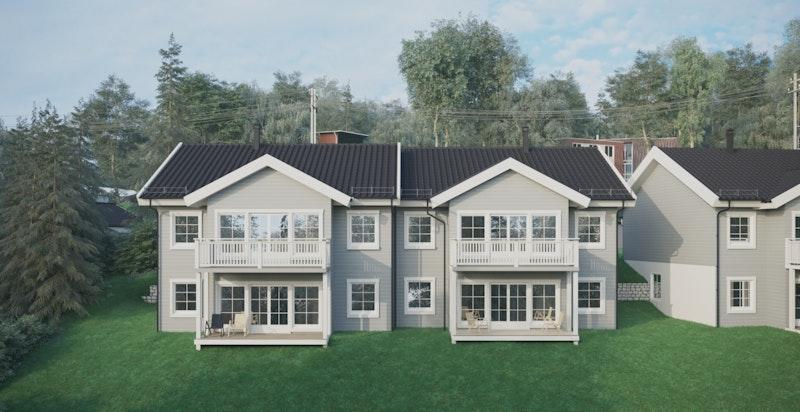-Tiltalende fasade - veranda -uteplass-