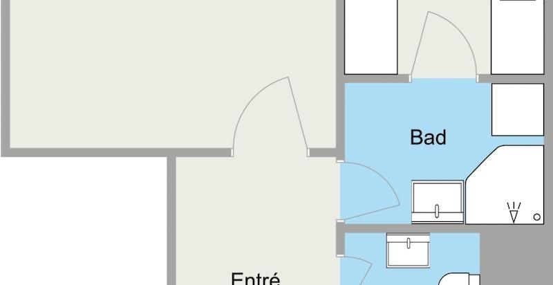 Jostein Braskerud - 1. Etasje - 2D Floor Plan