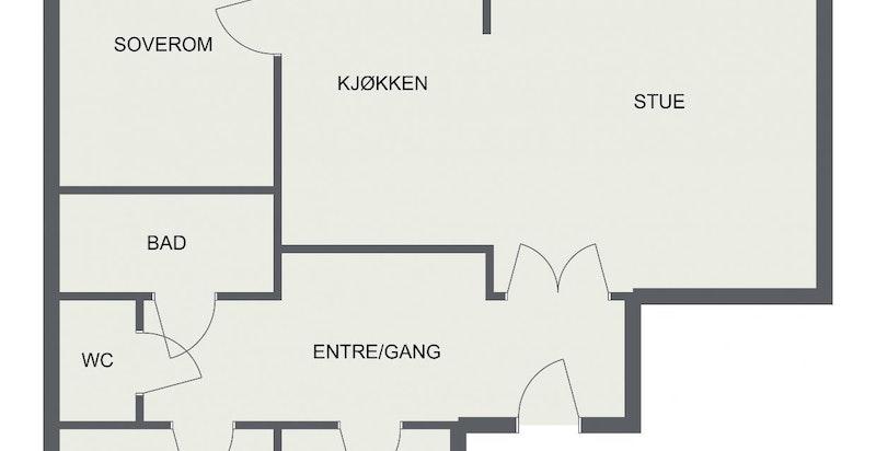 Floorplan letterhead - Rosteds Gate 7 - 1. Etasje - 2D Floor Plan-page-001