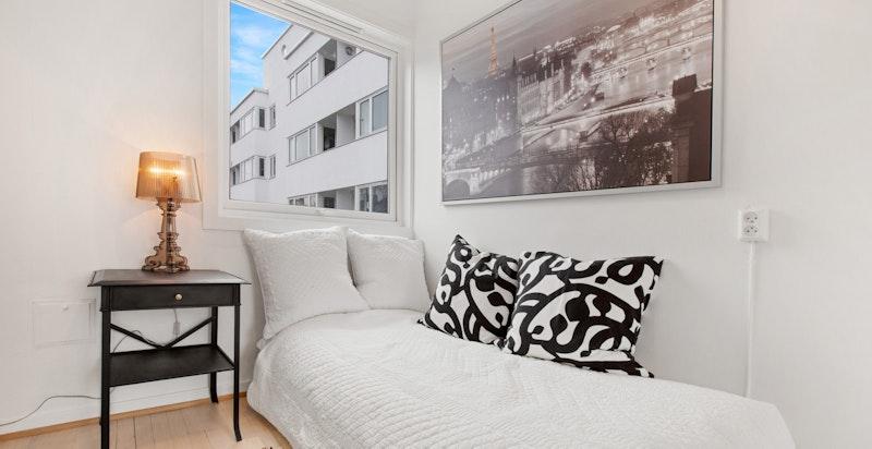 God atmosfære og fine lysforhold på soverommet også.