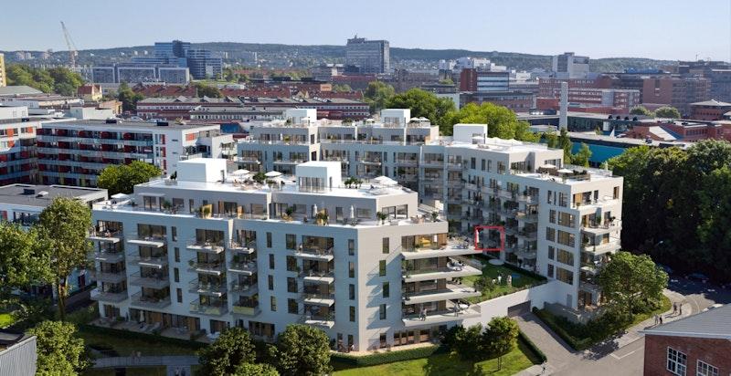 Velkommen til Ensjøhøyden 2203! Ny og flott 2-roms med vestvent balkong, felles takterrasse og god standard. Perfekt førstegangskjøp/utleie. (Kun ment som illustrasjon av fasade)
