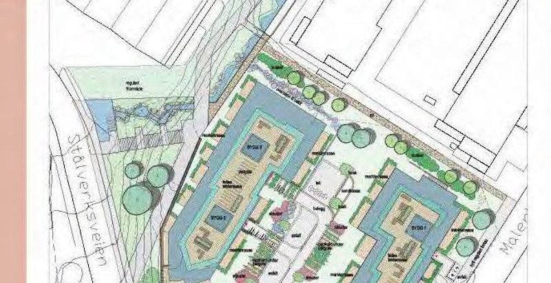Illustrasjon av utomhusplan.