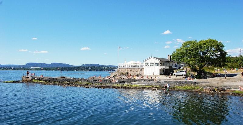Flotte badeområder ved Huk om sommeren