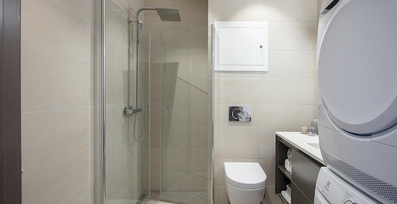 Bad 2 med opplegg for vaskemaskin og tørketrommel