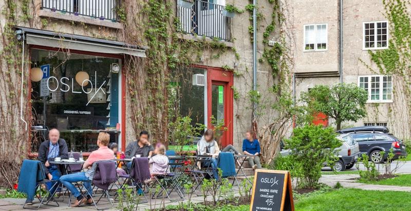 Det er godt med kaféer og restauranter i området Fagerborg/Majorstuen