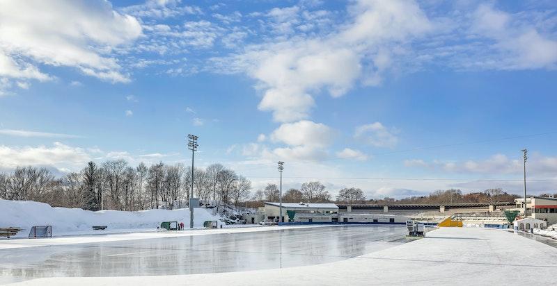 Frogner Stadion ligger kun noen få meter fra leiligheten