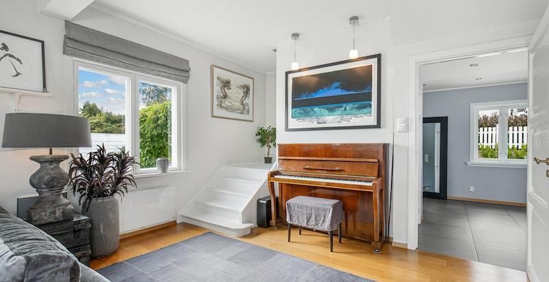 Trapp fra stuen til soveromsetasjen
