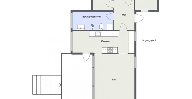 Planløsning hovedhus