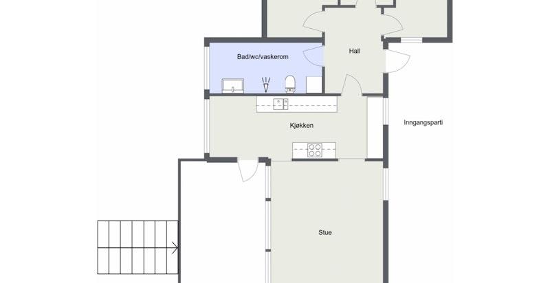 Alternativ planløsning hovedhus