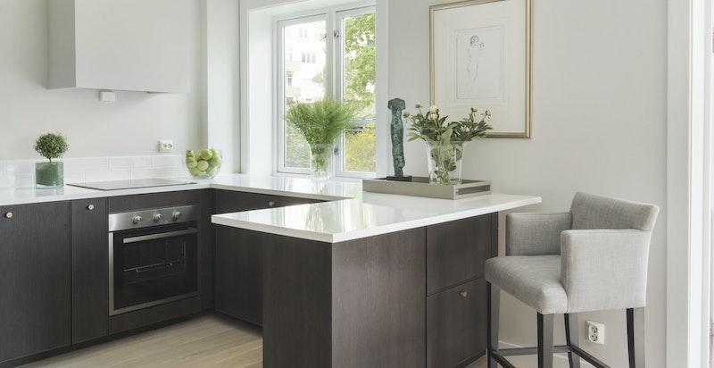 Kjøkkeninnredning og hvitevarer er nytt i 2018