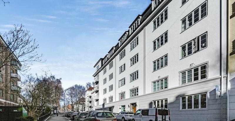 Nobels gate oppover mot Vigelandsparken og Oslo Bymuseum.