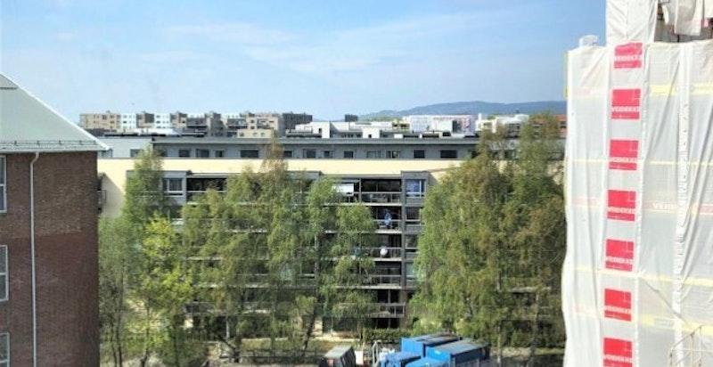 Bilde tatt fra balkongen.