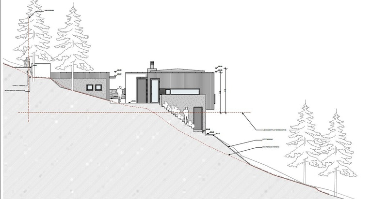 Setra Vei 22 B - Fasade Nord - rammetillatelse