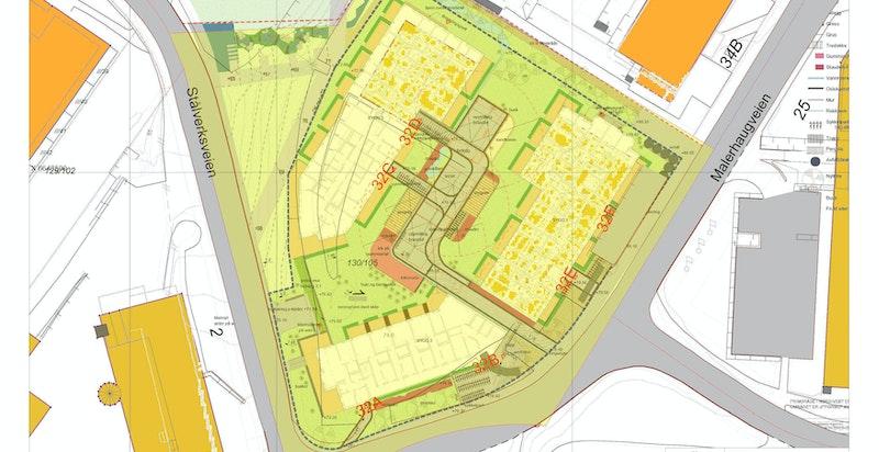 Oversiktskart over prosjektet.
