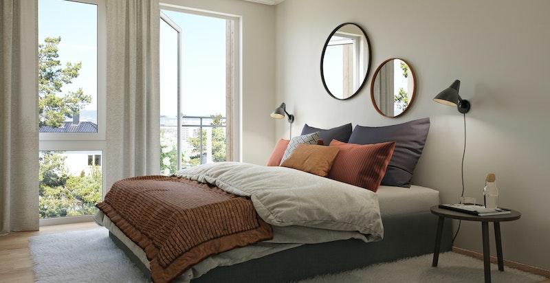 Soverom i leilighet 205 - konsept Nordisk varm