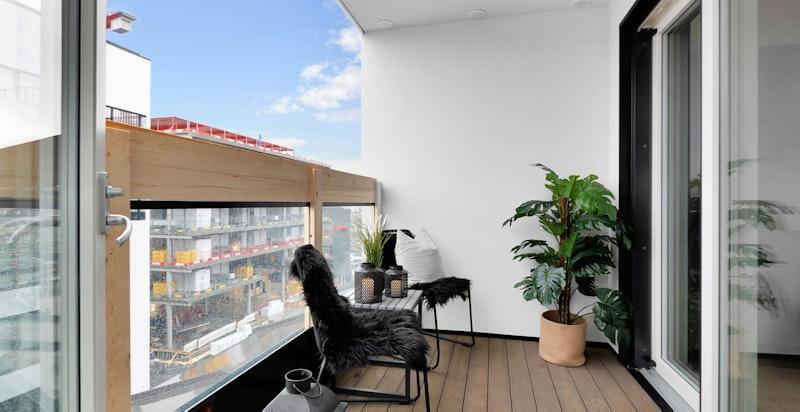 Balkong på ca. 5 m²