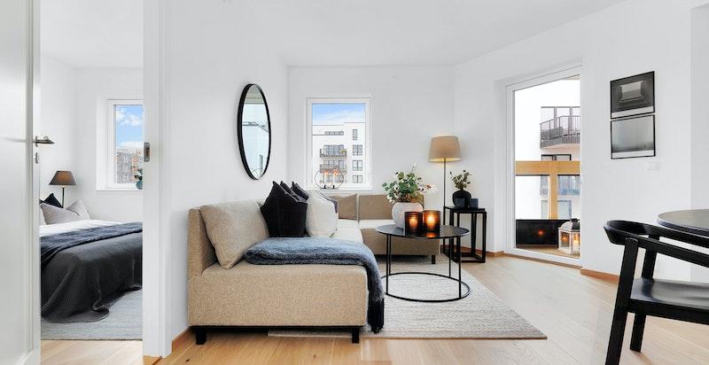 Ny, ubebodd og lekker 2-roms leilighet