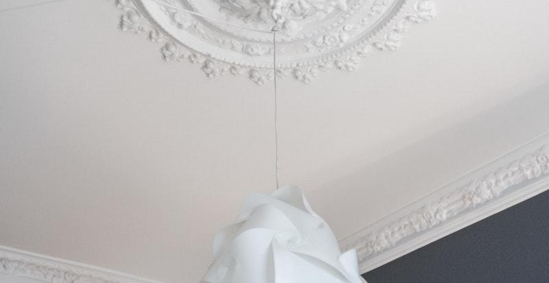 Detalj i hovedsoverom (lampen medfølger ikke)