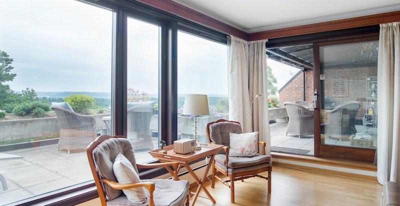 Detalj stuen med utg. terrassen