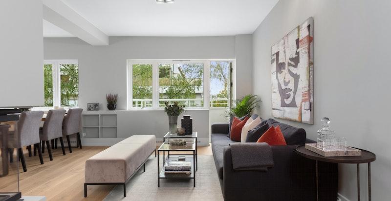 Stue med utgang til balkong på 5 kvm.