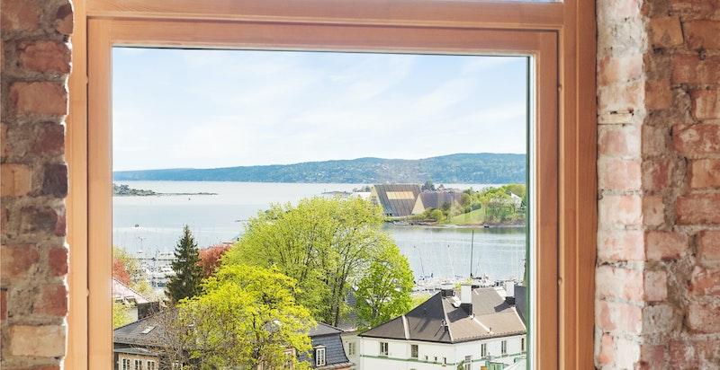 Én av områdets beste utsikter - med sin svært attraktive beliggenhet øverst i Tostrup terrasse ved Gimletoppen