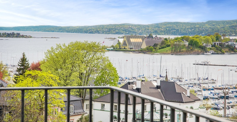 Fantastisk utsikt mot Oslofjorden, Frognerkilen og Bygdøy