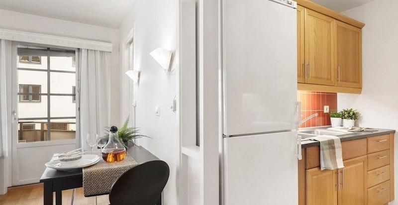 Plass til liten spiseplass ved kjøkken