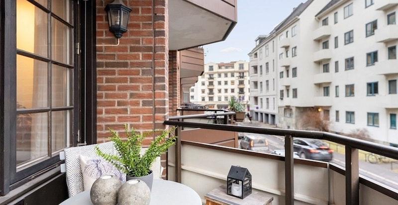 Hyggelig balkong på ca 5 kvm