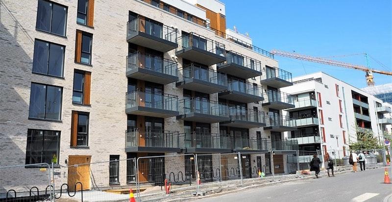 Bilde av fasade på øst-siden.