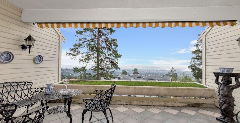 Terrasse med flott utsikt