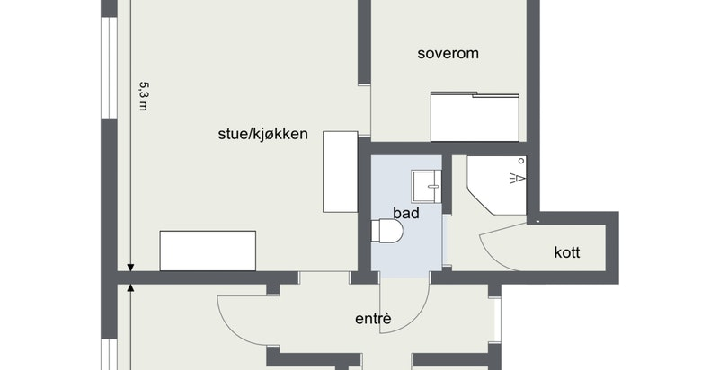 Floorplan letterhead - Ekebergvn 27, andel 11 - 2. Etasje - 2D Floor Plan