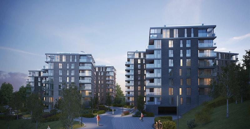 Kunstnerisk illustrasjon - Bilder fra leiligheten under bygging sendes på forespørsel