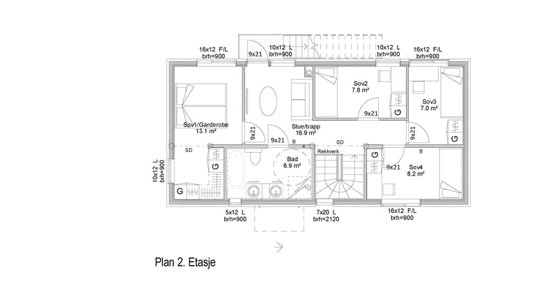 Plantegning 2. etasje.