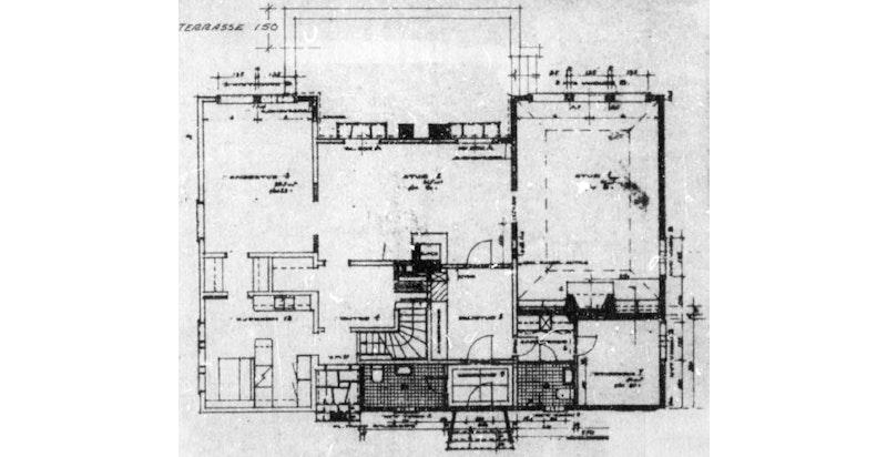 Plantegning - 1. etasje (godkjent byggetegning - avvik fra dagens bruk/innredning kan forekomme)