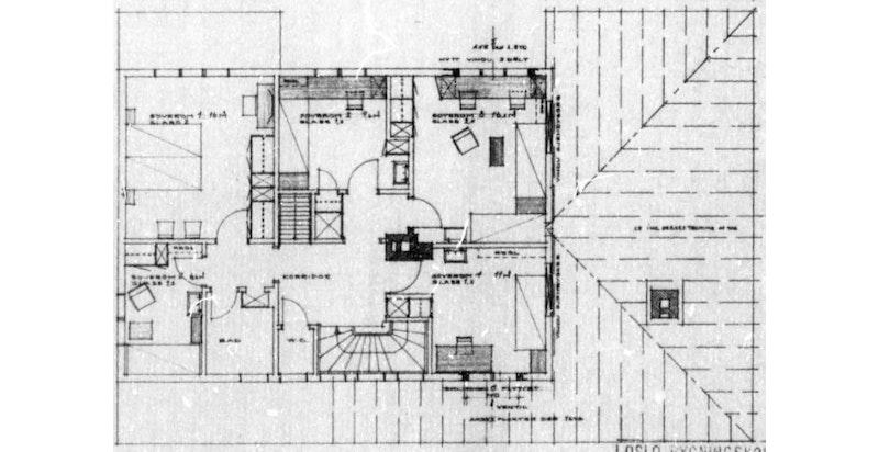Plantegning - 2. etasje (godkjent byggetegning - avvik fra dagens bruk/innredning kan forekomme)
