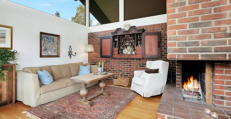 Hyggelig og romslig stue