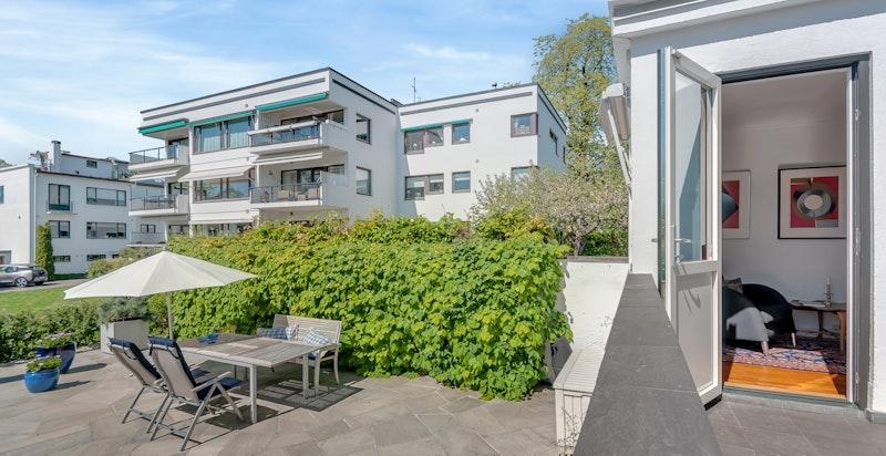 Heia anses som et av de fineste eksemplene på boligkomplekser i funkisstil i hele Norge