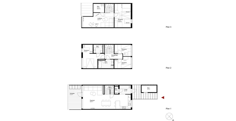 Salgstegning hus A3