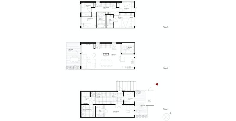 Salgstegning hus B1