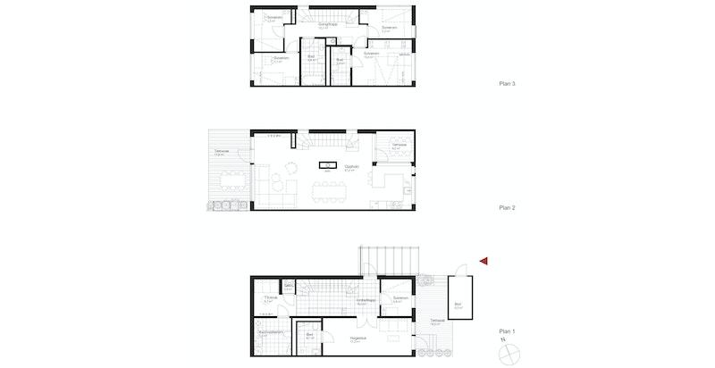 Salgstegning hus E1