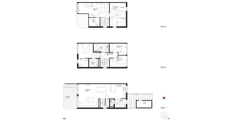 Salgstegning hus K1